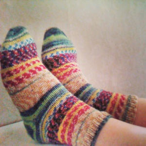 You can put your feet up after a hard day's yarn shopping!