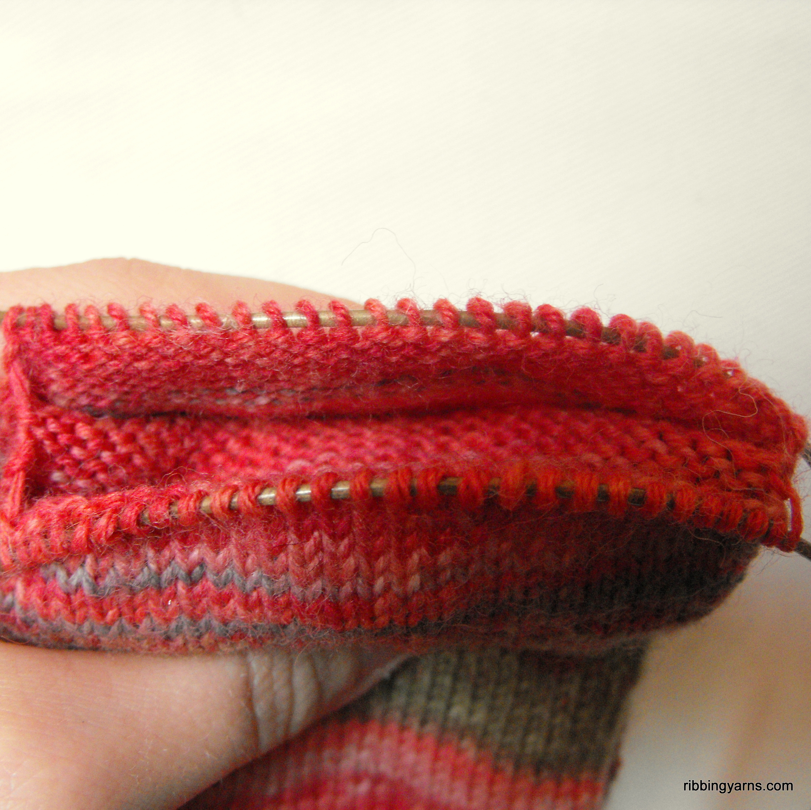 Knitting Picking Up Heel Stitches : How to Knit an Afterthought Heel (Part 2) Ribbing Yarns