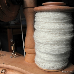 Handspun yarn scoured fleece
