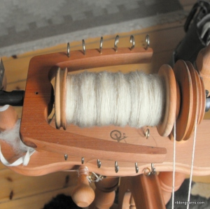 Spinning Leicester Wool