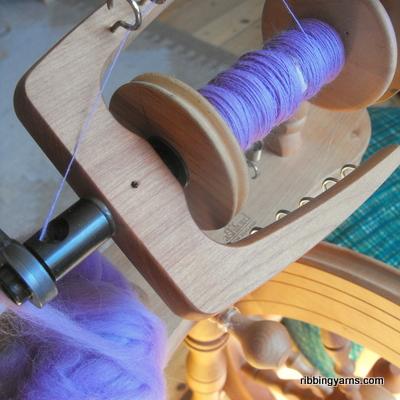 Handspun bluebell merino fluff- such an amazing colour :)